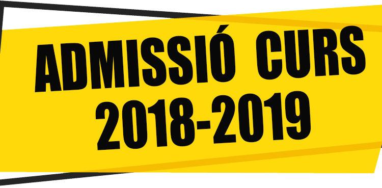 Admisión 2018-2019