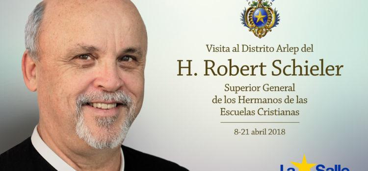 El Superior General de los Hermanos de La Salle, Robert Schieler, visita el Distrito Arlep