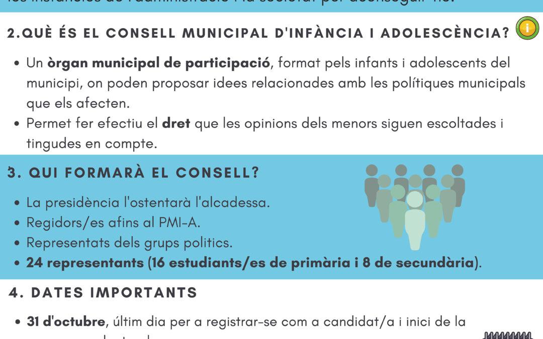 Convocat el Consell Municipal d'Infància i Adolescència